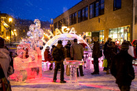 There's still some time to go downtown and see some cool ice carving, and get some hot chocolate, beer, or wine from the ice bar!