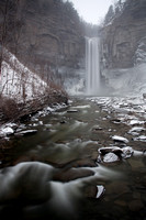 Taughannock Falls as the snow starts to fall