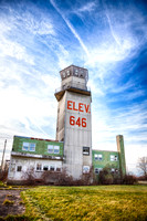 Abandoned military air control tower (now demolished)