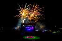 Cornell University Homecoming 2013 Laser/Fireworks show