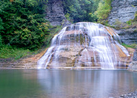 Treman state park and waterfalls