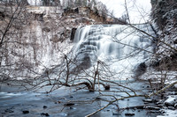 Ithaca Falls the evening of December 10, 2013