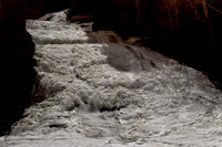 Buttermilk falls lit by the moon